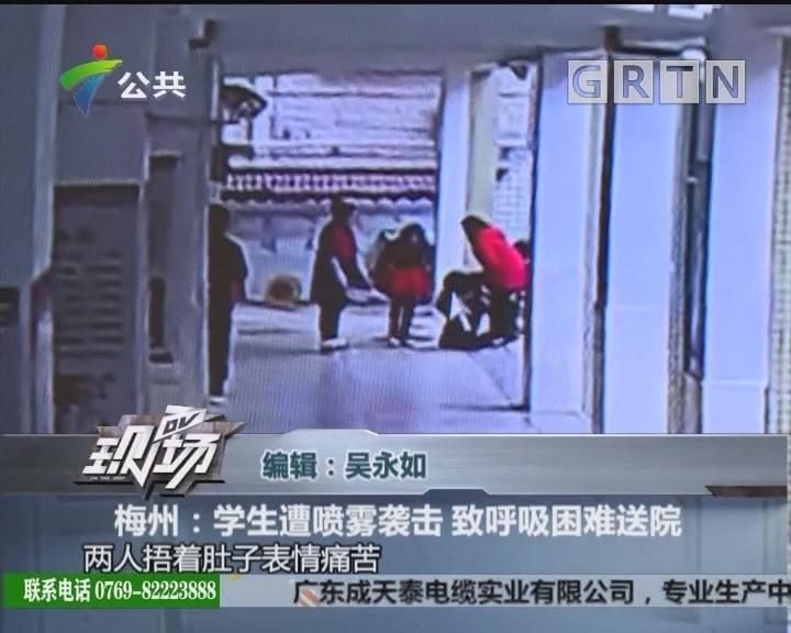梅州:学生遭喷雾袭击 致呼吸困难送院