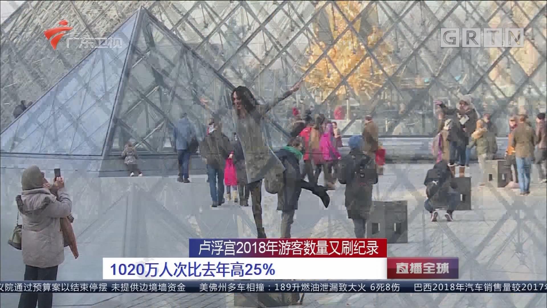 卢浮宫2018年游客数量又刷纪录 1020万人次比去年高25%