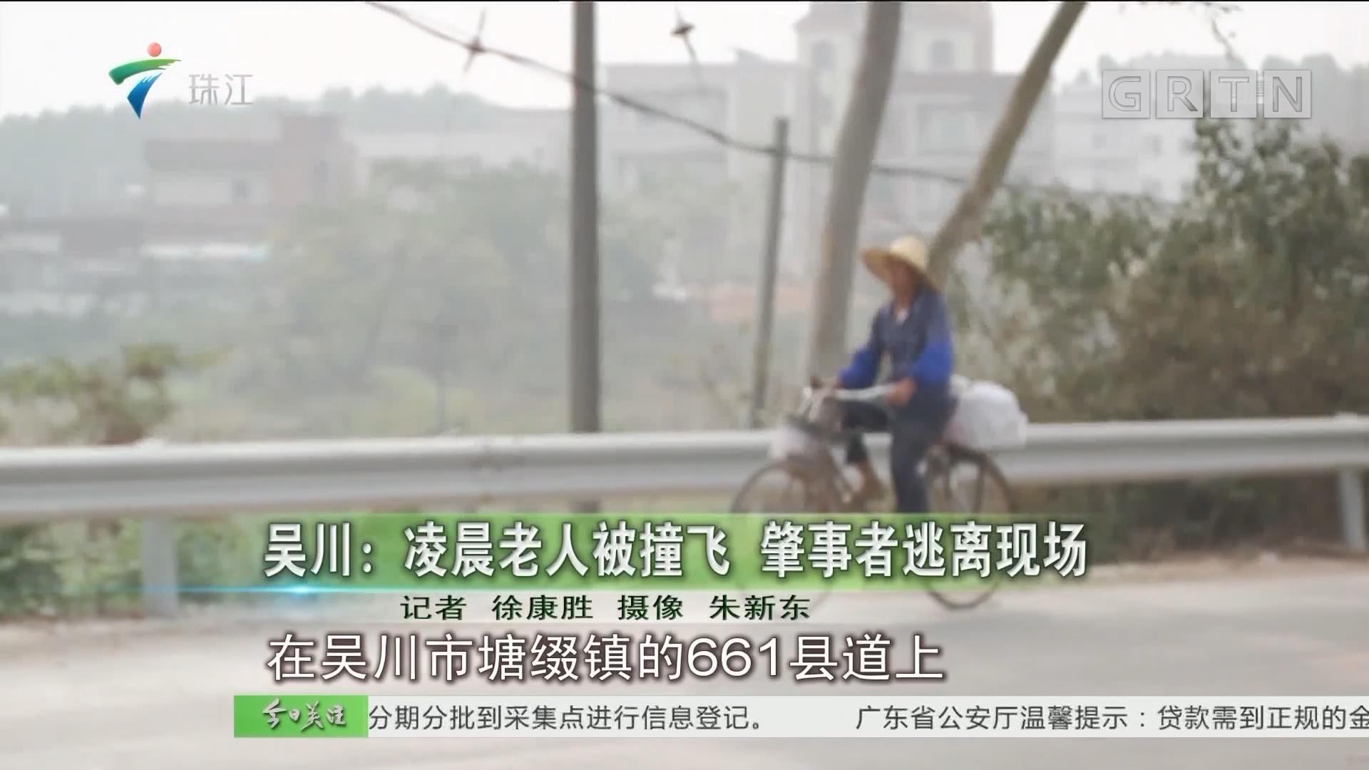 吴川:凌晨老人被撞飞 肇事者逃离现场