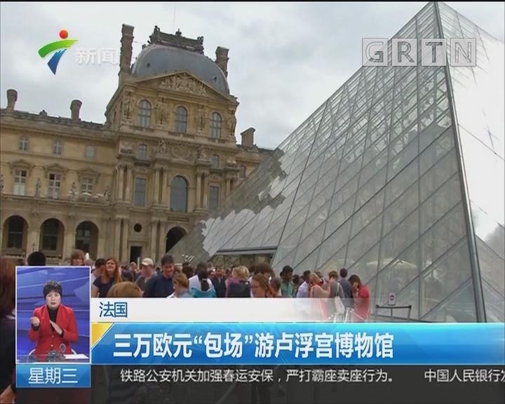"""法国:三万欧元""""包场""""游卢浮宫博物馆"""