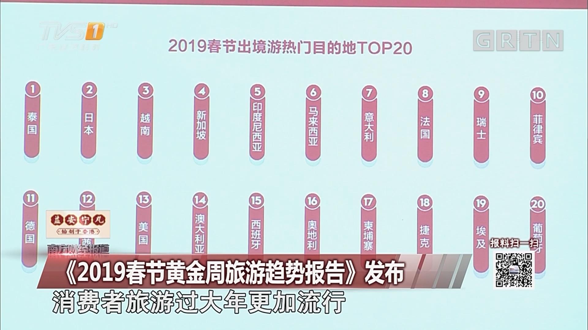 《2019春节黄金周旅游趋势报告》发布