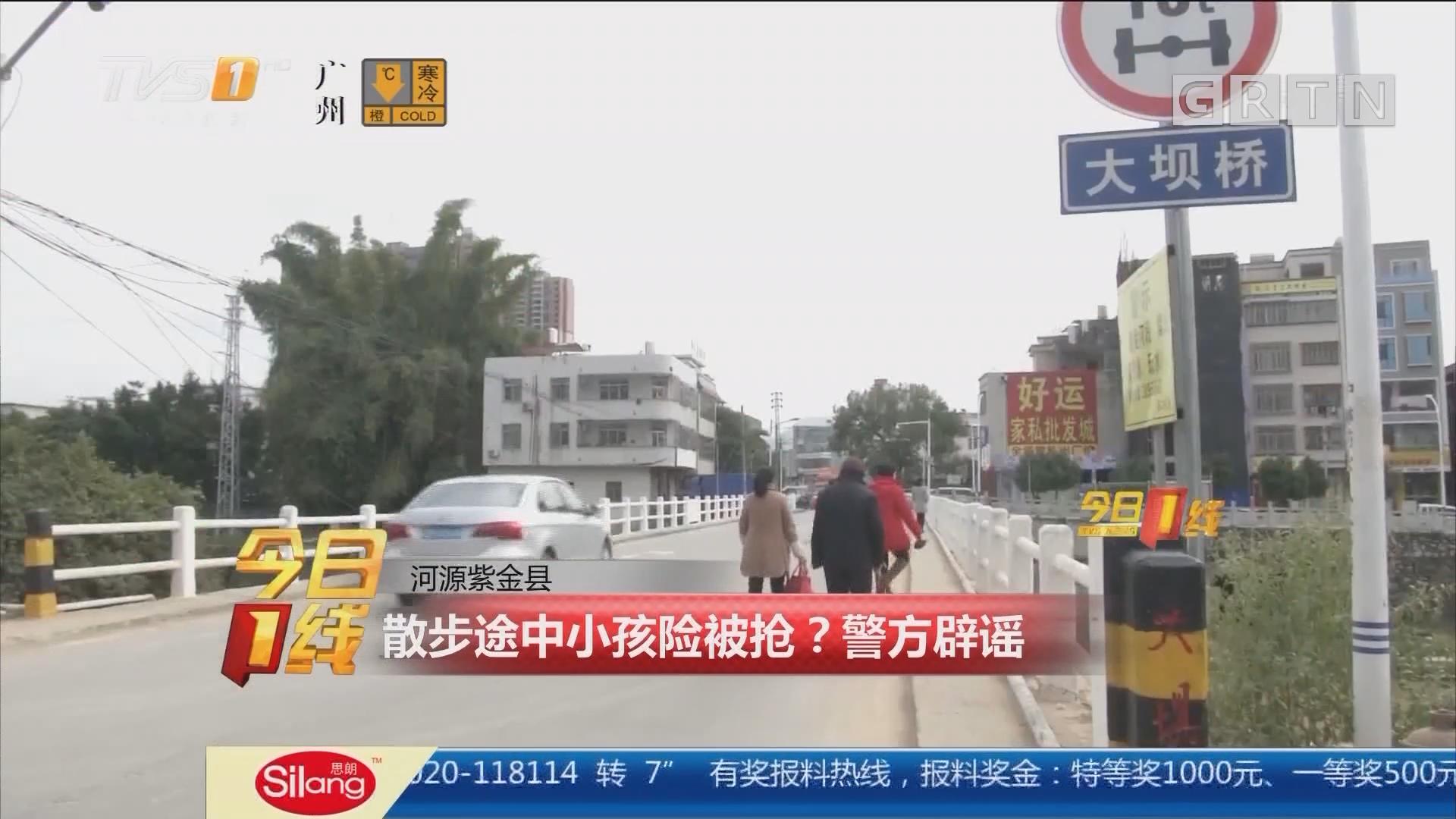 河源紫金县:散步途中小孩险被抢?警方辟谣