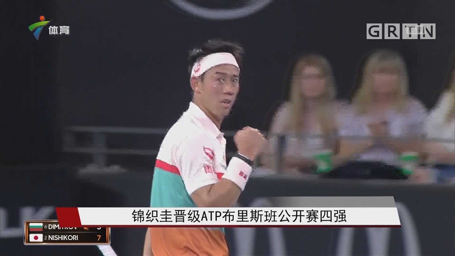 锦织圭晋级ATP布里斯班公开赛四强