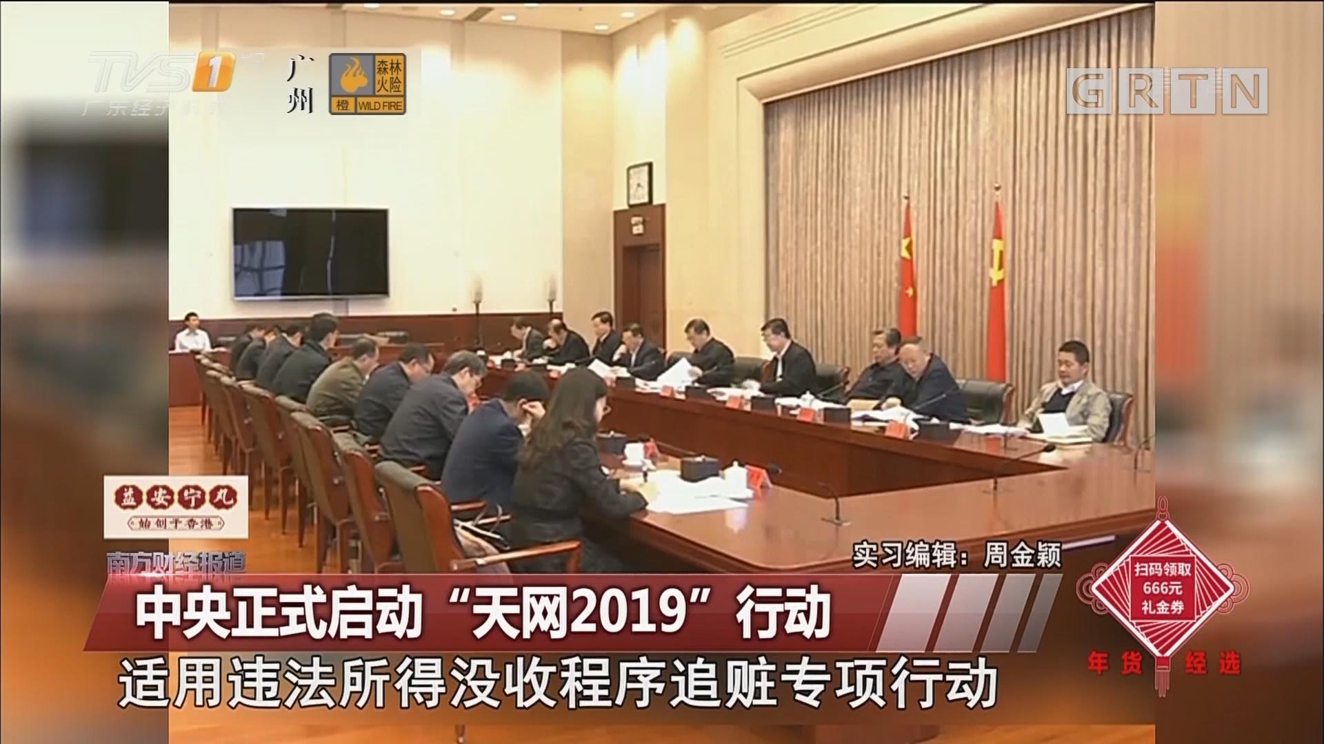 """中央正式启动""""天网2019""""行动"""