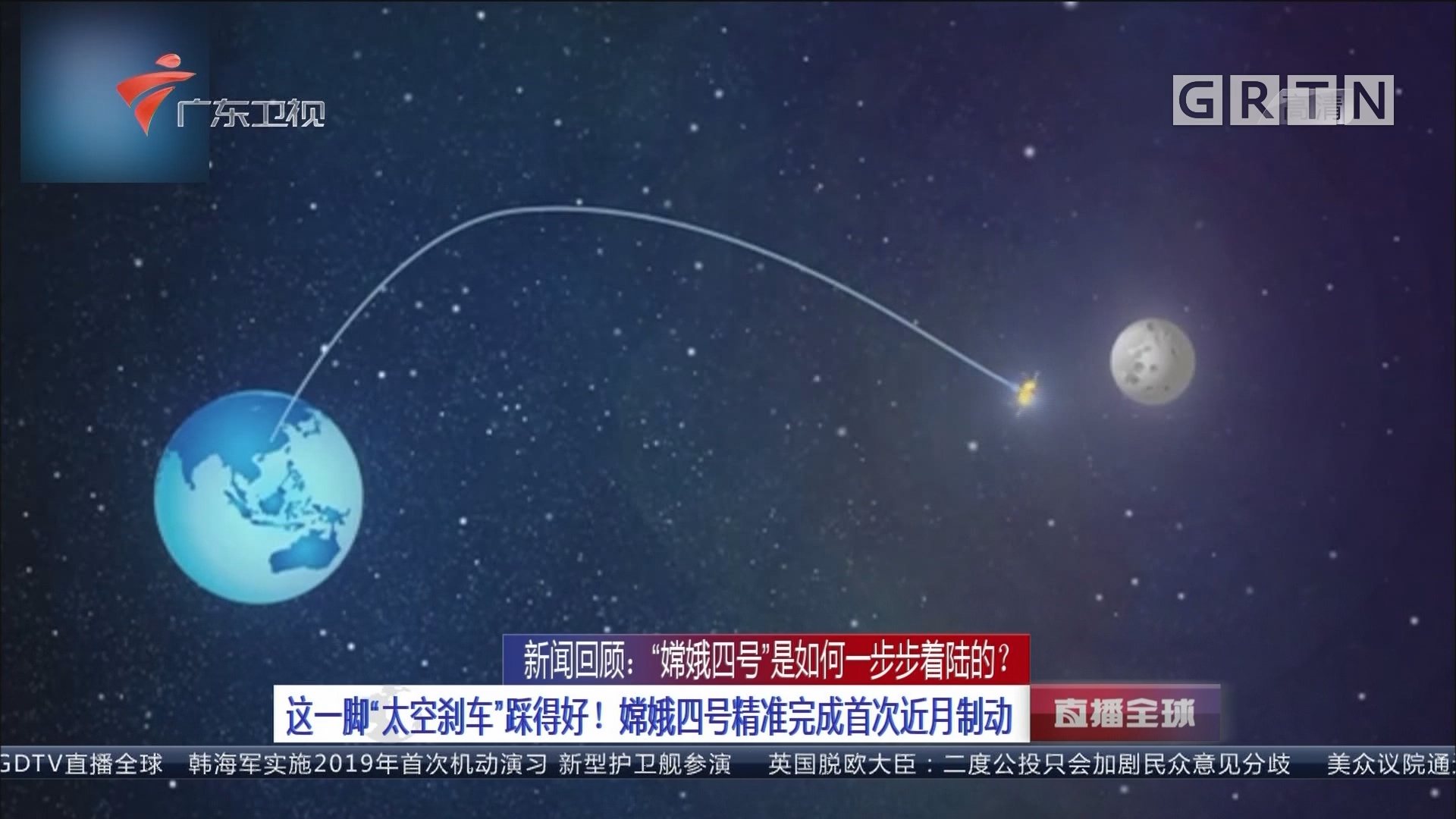 """新闻回顾:""""嫦娥四号""""是如何一步步着陆的? 这一脚""""太空刹车""""踩得好!嫦娥四号精准完成首次近月制动"""