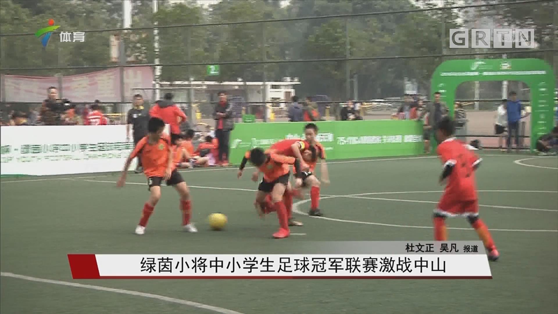 绿茵小将中小学生足球冠军联赛激战中山
