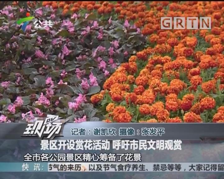 景区开设赏花活动 呼吁市民文明观赏