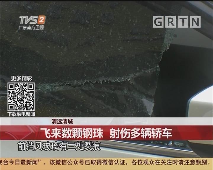 清远清城:飞来数颗钢珠 射伤多辆轿车