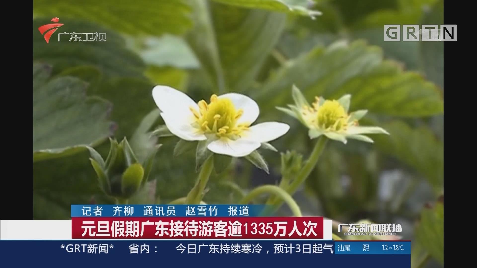 元旦假期广东接待游客逾1335万人次