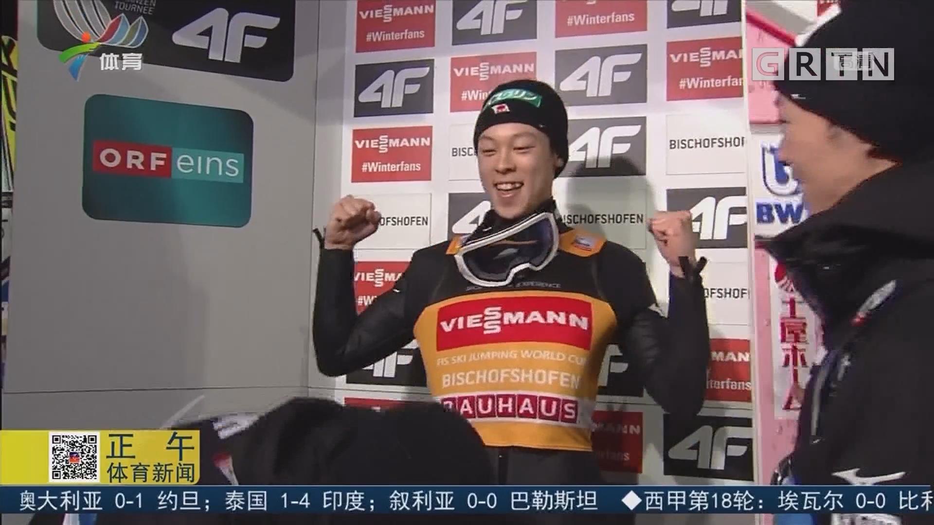 小林荣彦夺跳台四山滑雪锦标赛大满贯