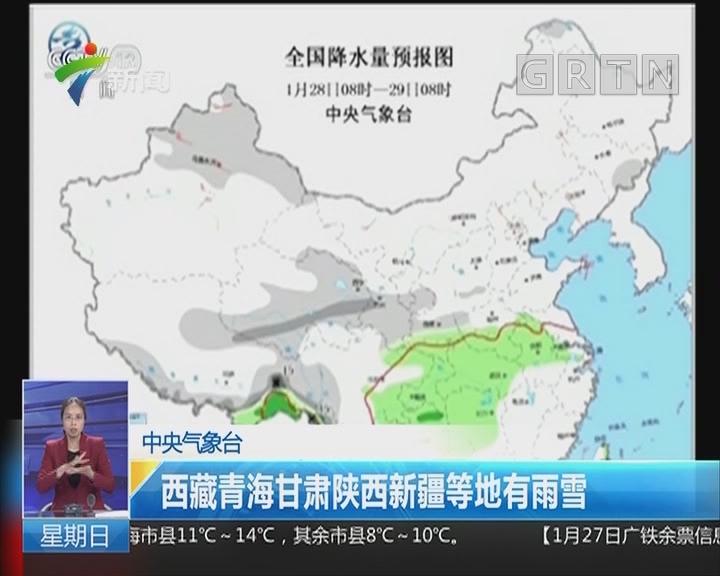 中央气象台:西藏青海甘肃陕西新疆等地有雨雪