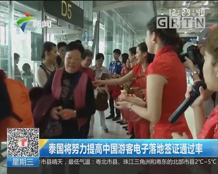 泰国将努力提高中国游客电子落地签通过率