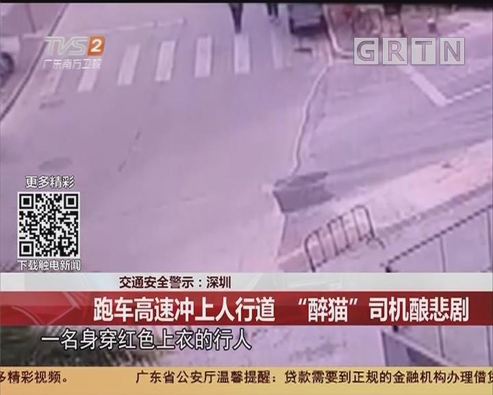 """交通安全警示:深圳 跑车高速冲上人行道 """"醉猫""""司机酿悲剧"""