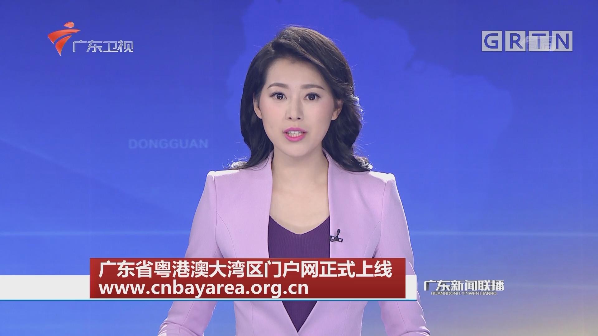 广东省粤港澳大湾区门户网正式上线 www.cnbayarea.org.cn