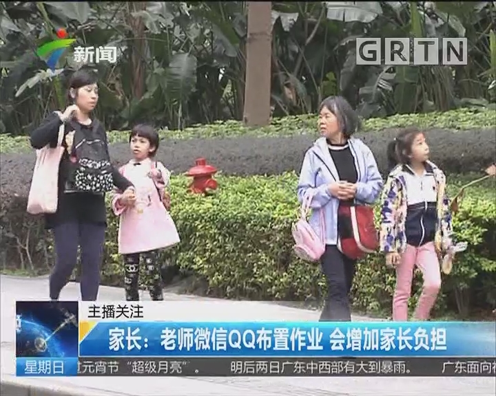 家长:老师微信QQ布置作业 会增加家长负担