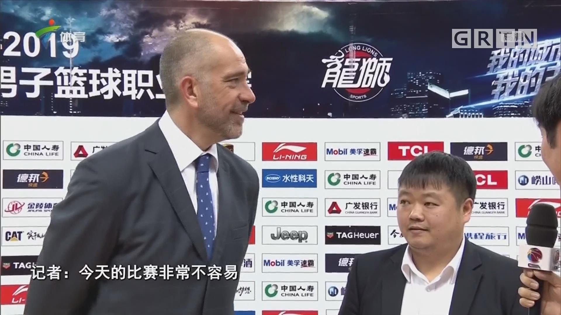 记者连线:赛后主教练采访