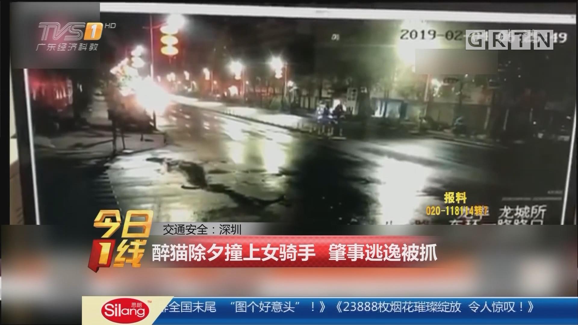 交通安全:深圳 醉猫除夕撞上女骑手 肇事逃逸被抓