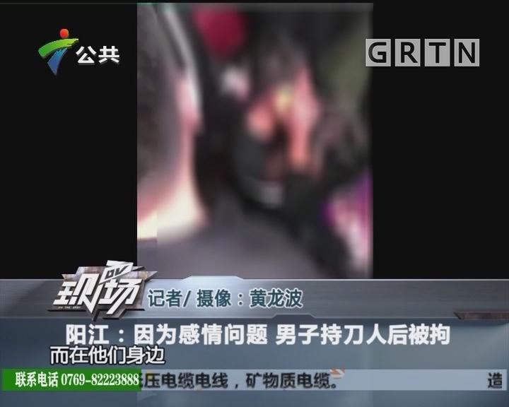 阳江:因为感情问题 男子持刀人后被拘