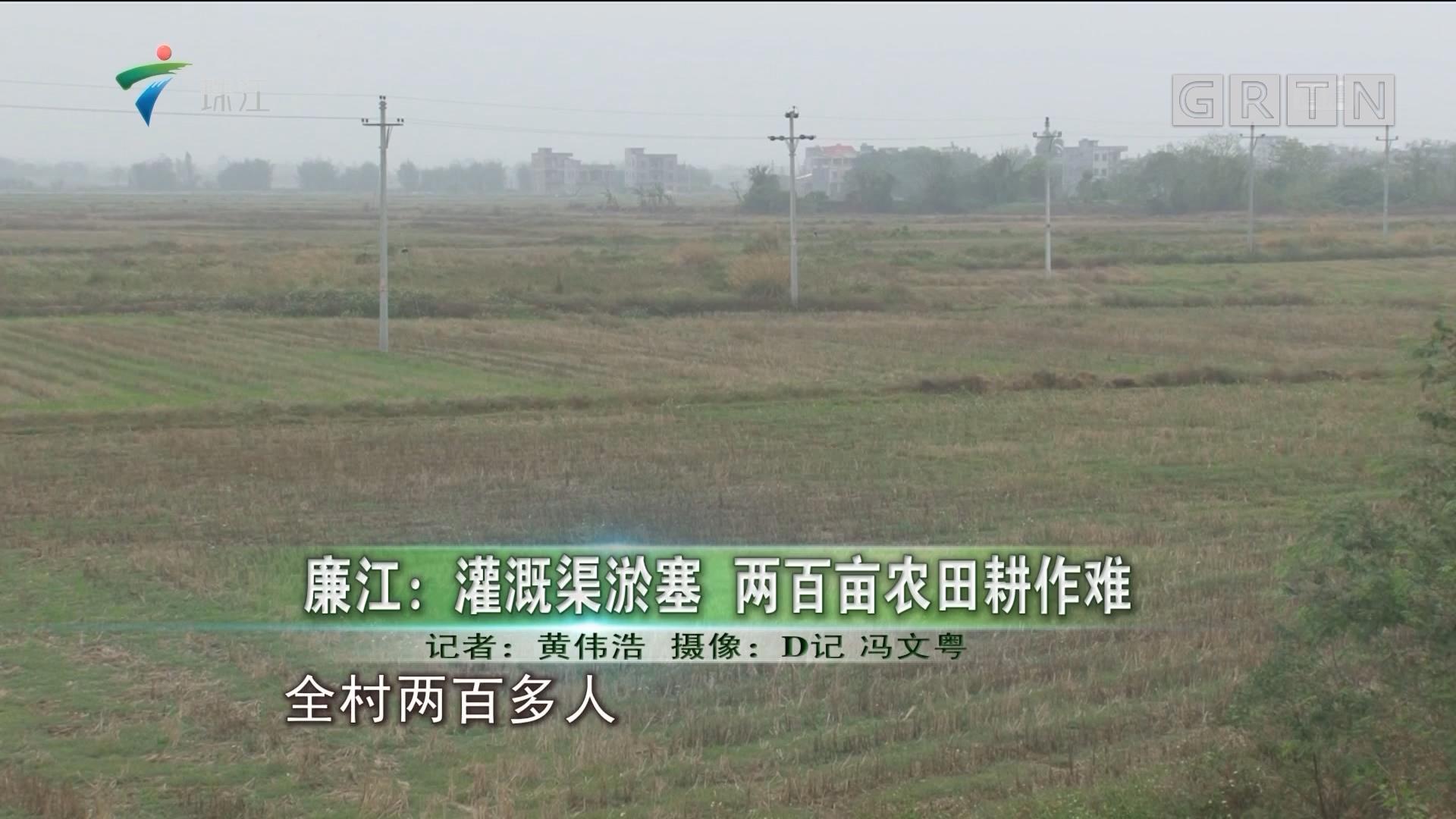 廉江:灌溉渠淤塞 两百亩农田耕作难