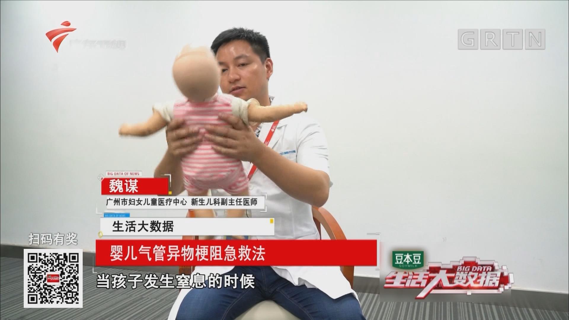 婴儿气管异物梗阻急救法