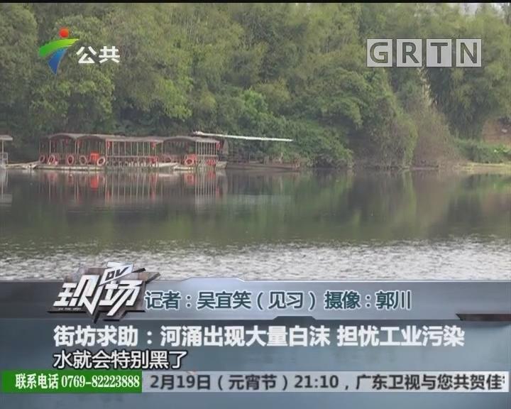 街坊求助:河涌出现大量白沫 担忧工业污染