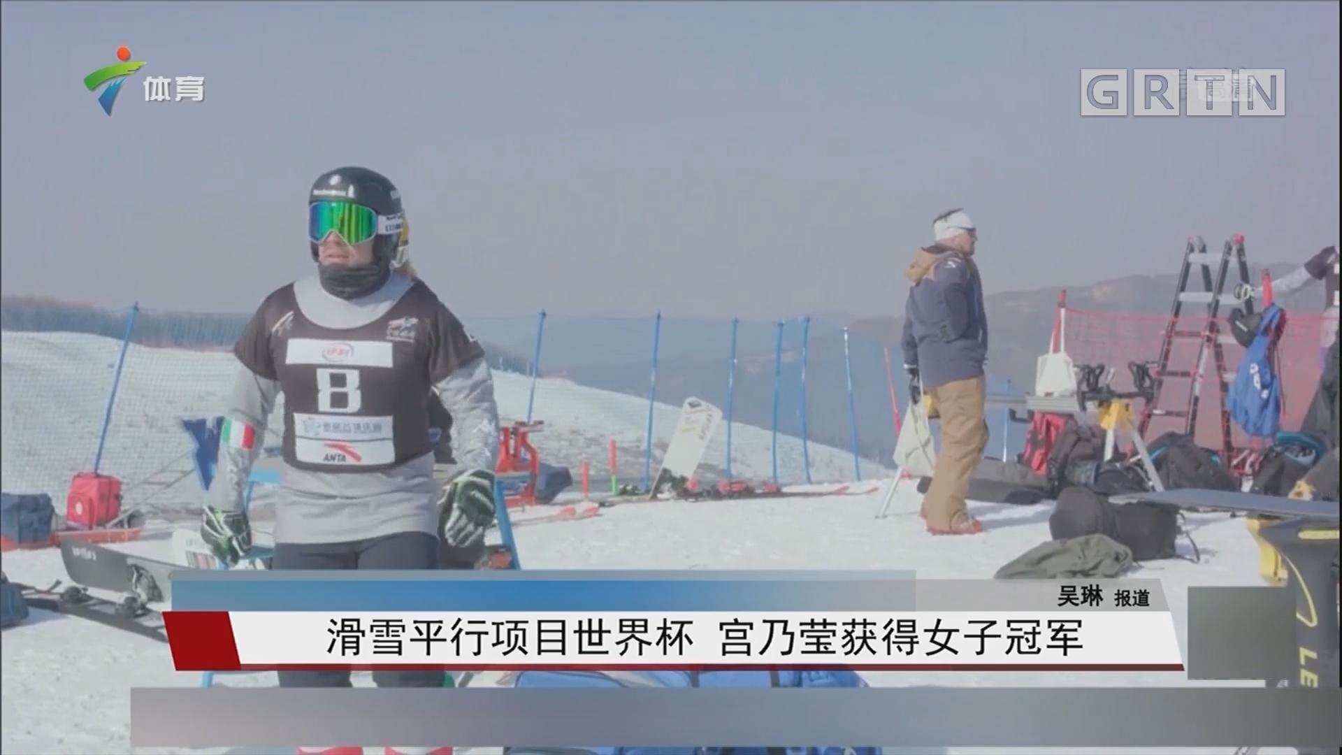 滑雪平行项目世界杯 宫乃莹获得女子冠军