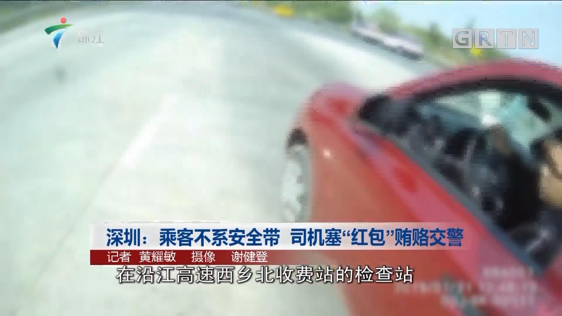 """深圳:乘客不系安全带 司机塞""""红包""""贿赂交警"""