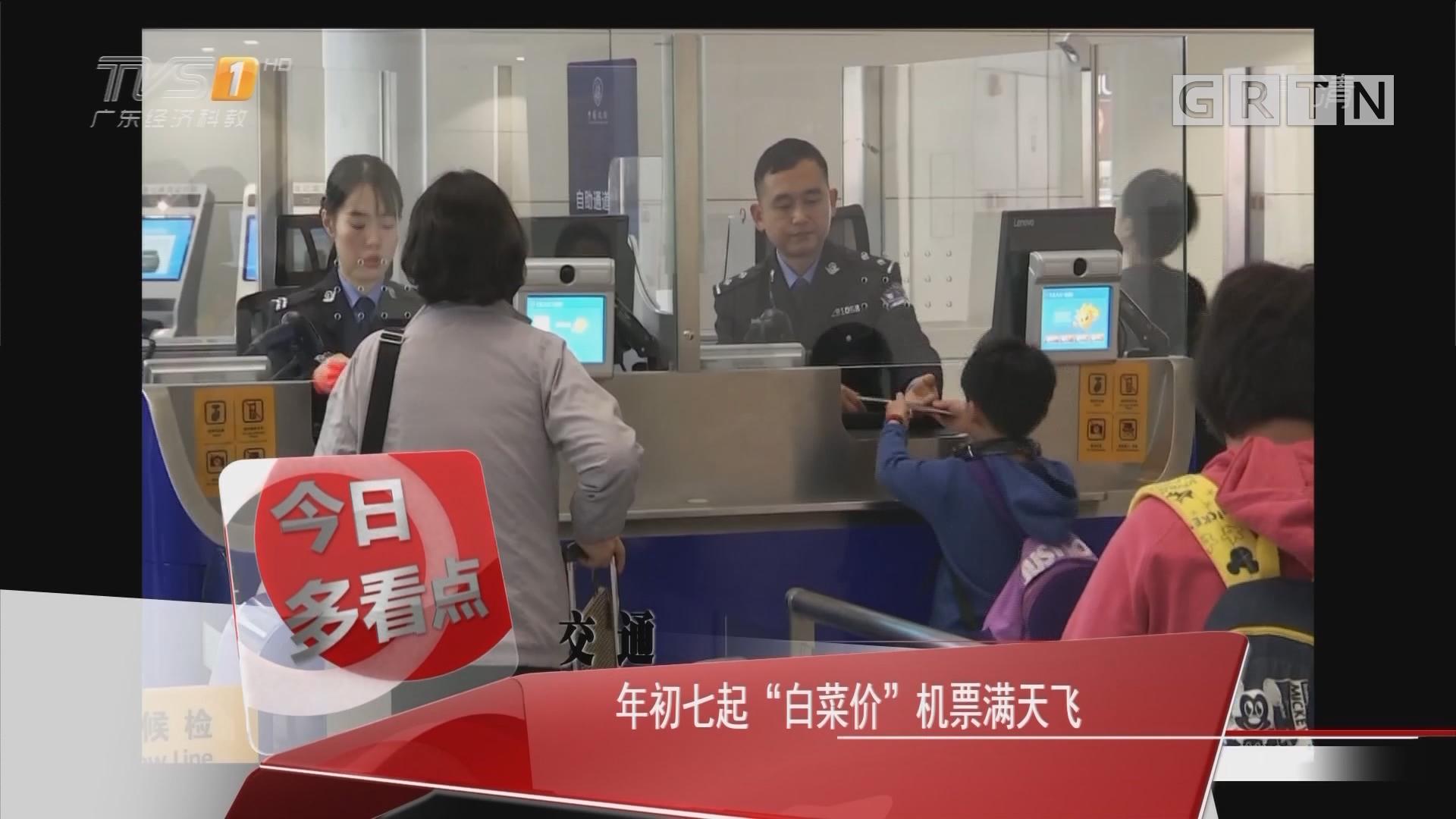 """交通:年初七起""""白菜价""""机票满天飞"""