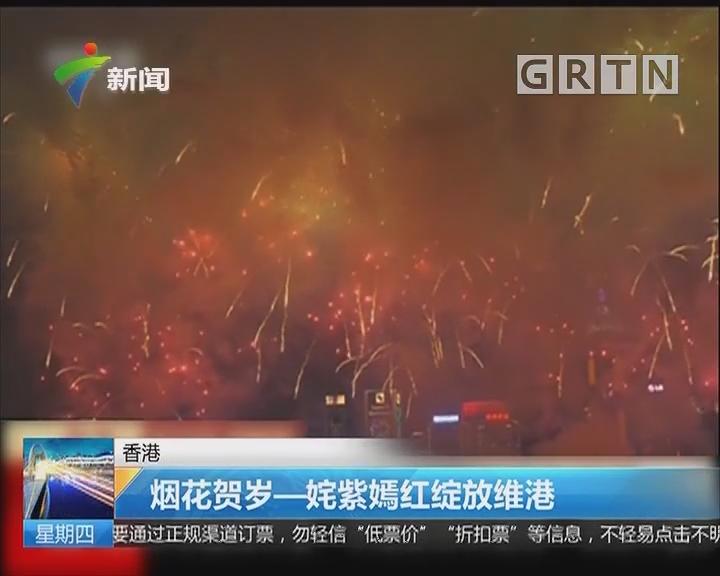香港:烟花贺岁——姹紫嫣红绽放维港