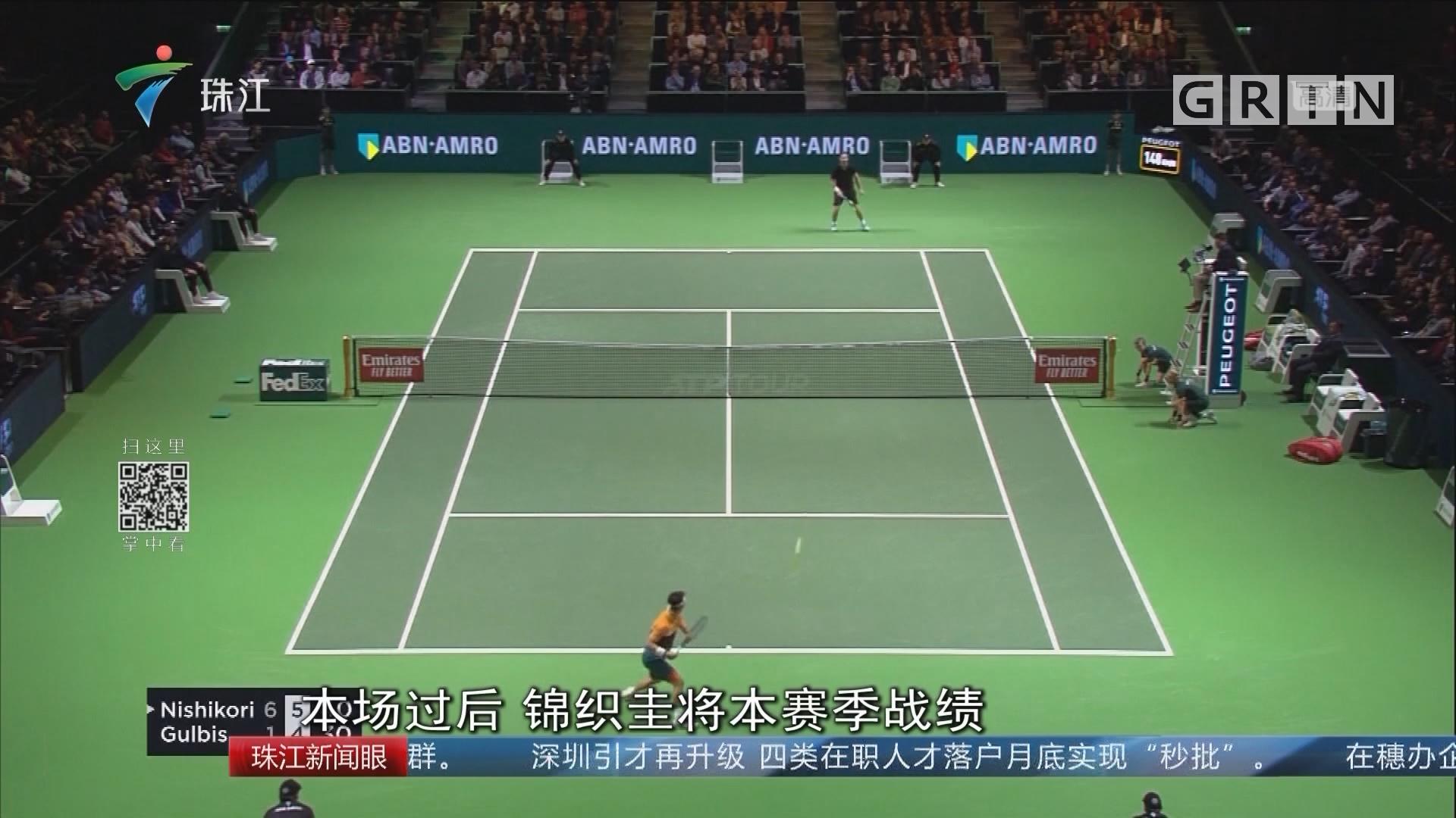 ATP鹿特丹站:锦织圭晋级八强