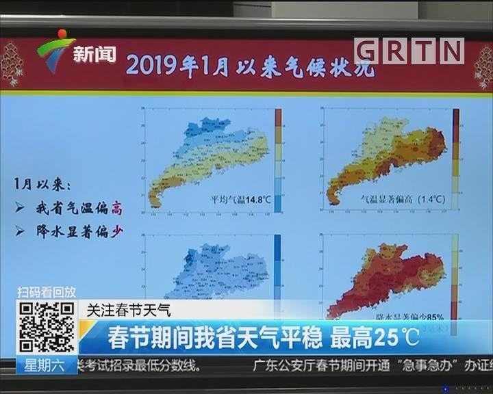 关注春节天气:春节期间我省天气平稳 最高25℃