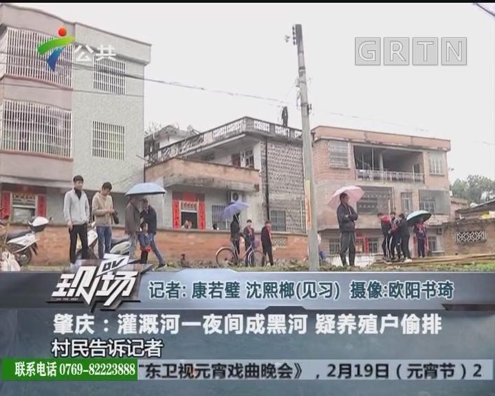 肇庆:灌溉河一夜间成黑河 疑养殖户偷排