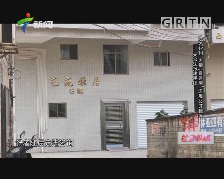 """[2019-02-19]社会纵横:茂名化州 大量""""自建房""""违规公开售卖 无合法报建手续"""