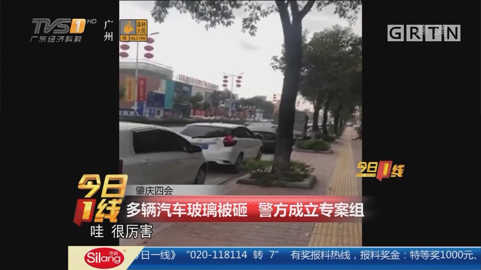 肇庆四会:多辆汽车玻璃被砸 警方成立专案组
