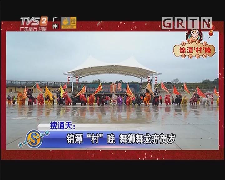 """锦潭""""村""""晚 舞狮舞龙齐贺岁"""