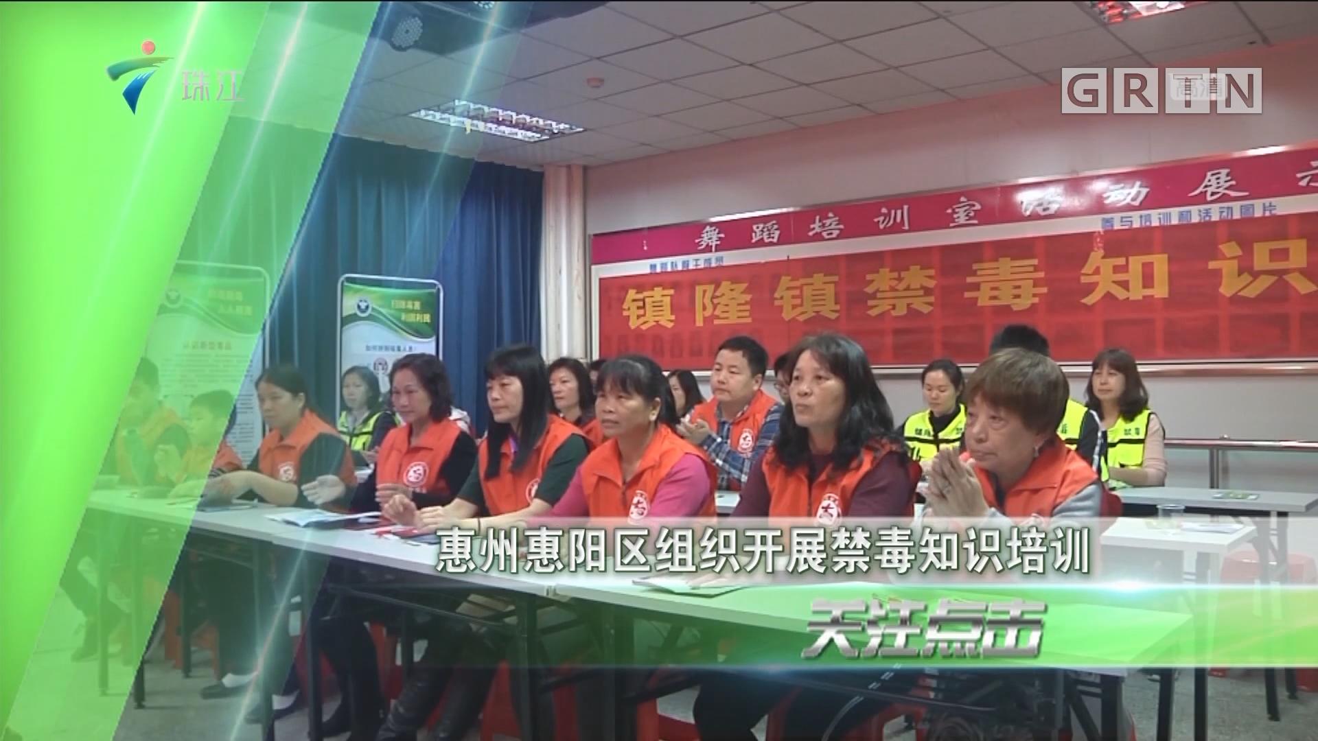 惠州惠阳区组织开展禁毒知识培训