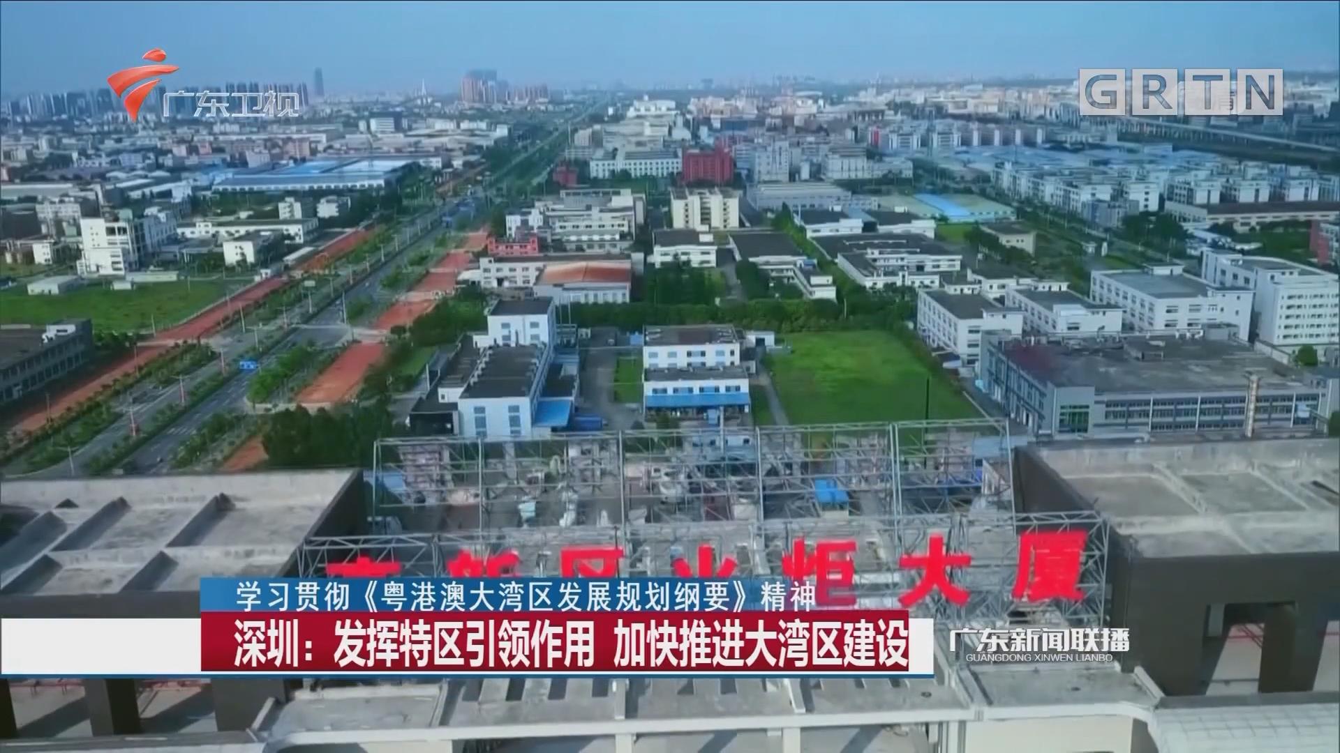 深圳:发挥特区引领作用 加快推进大湾区建设