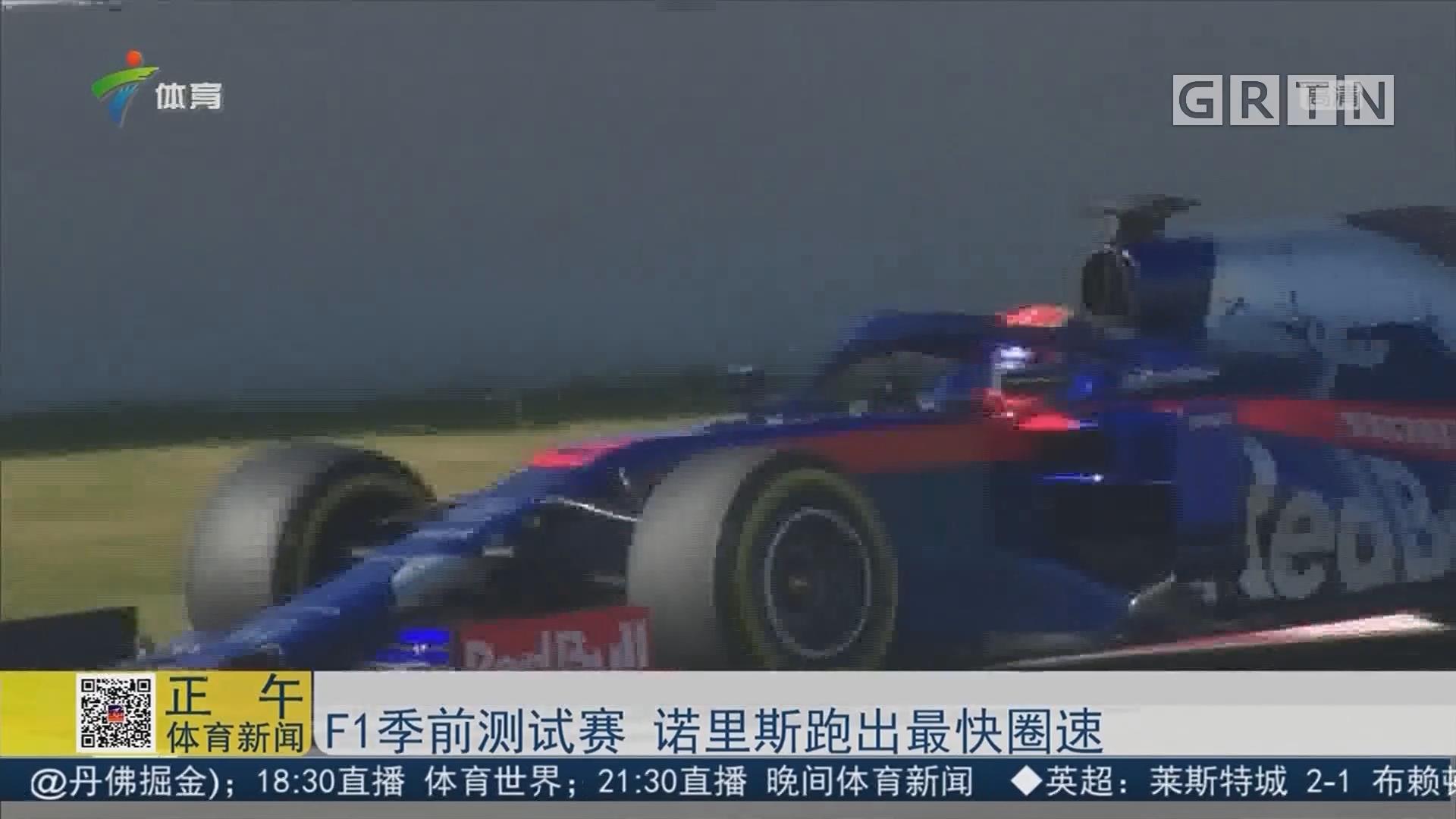 F1季前测试赛 诺里斯跑出最快圈速