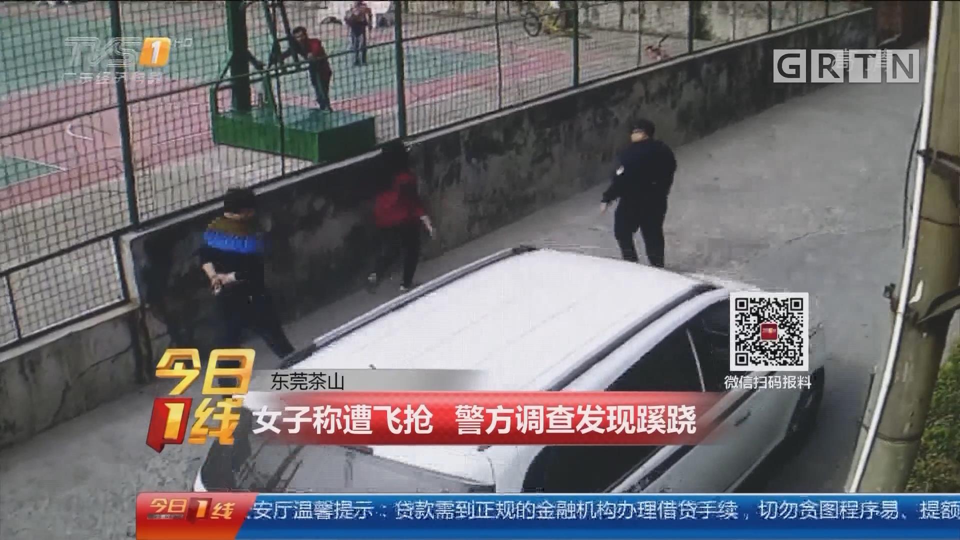 东莞茶山:女子称遭飞抢 警方调查发现蹊跷