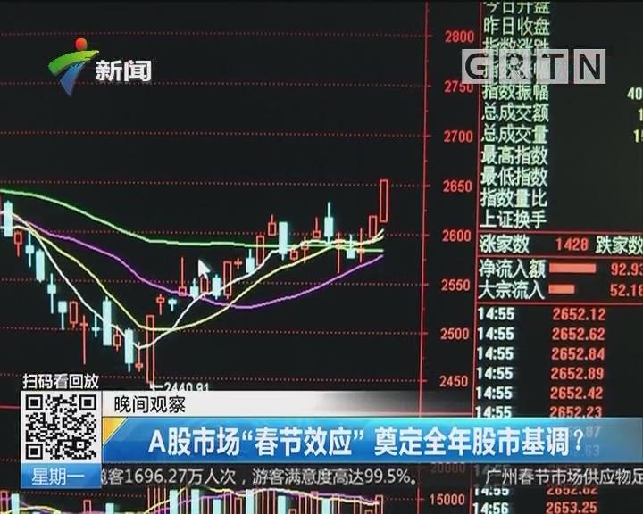 "A股市场""春节效应""奠定全年股市基调?"