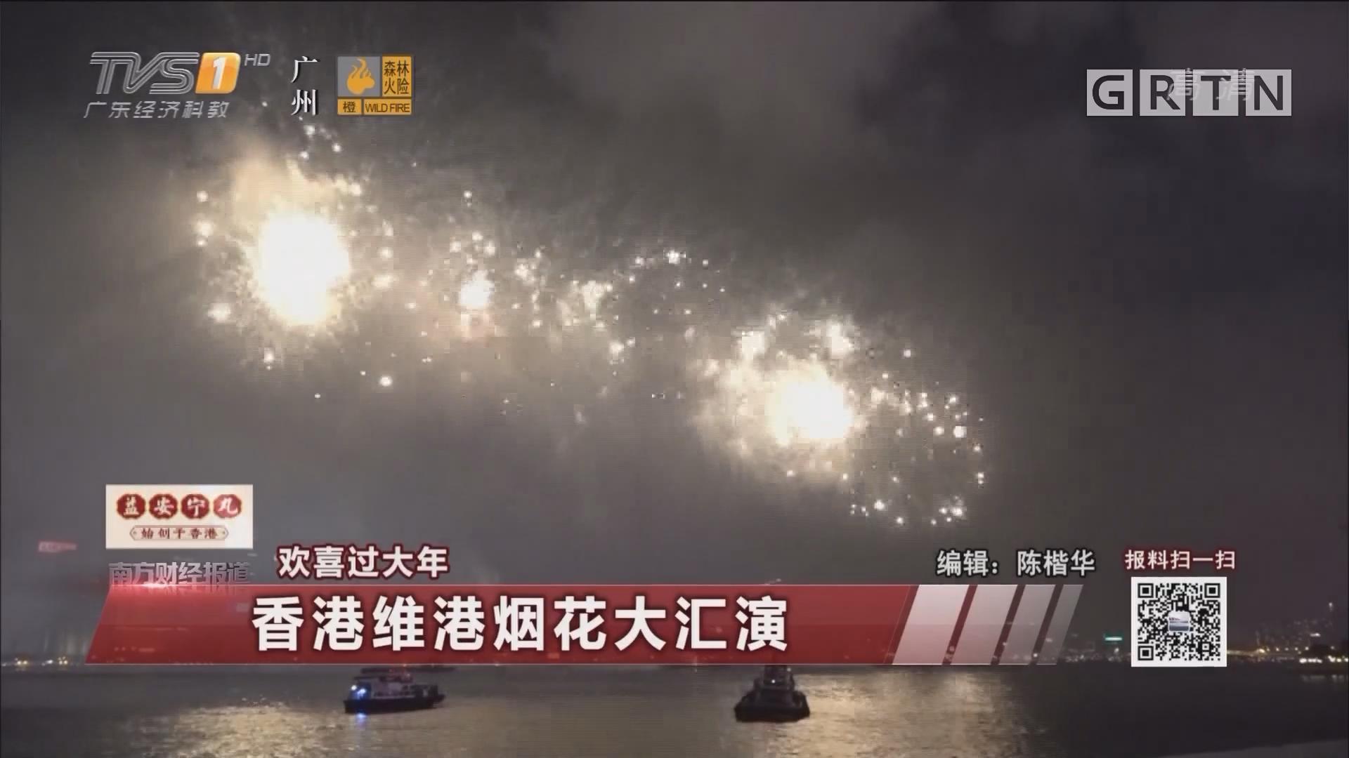 欢喜过大年:香港维港烟花大汇演