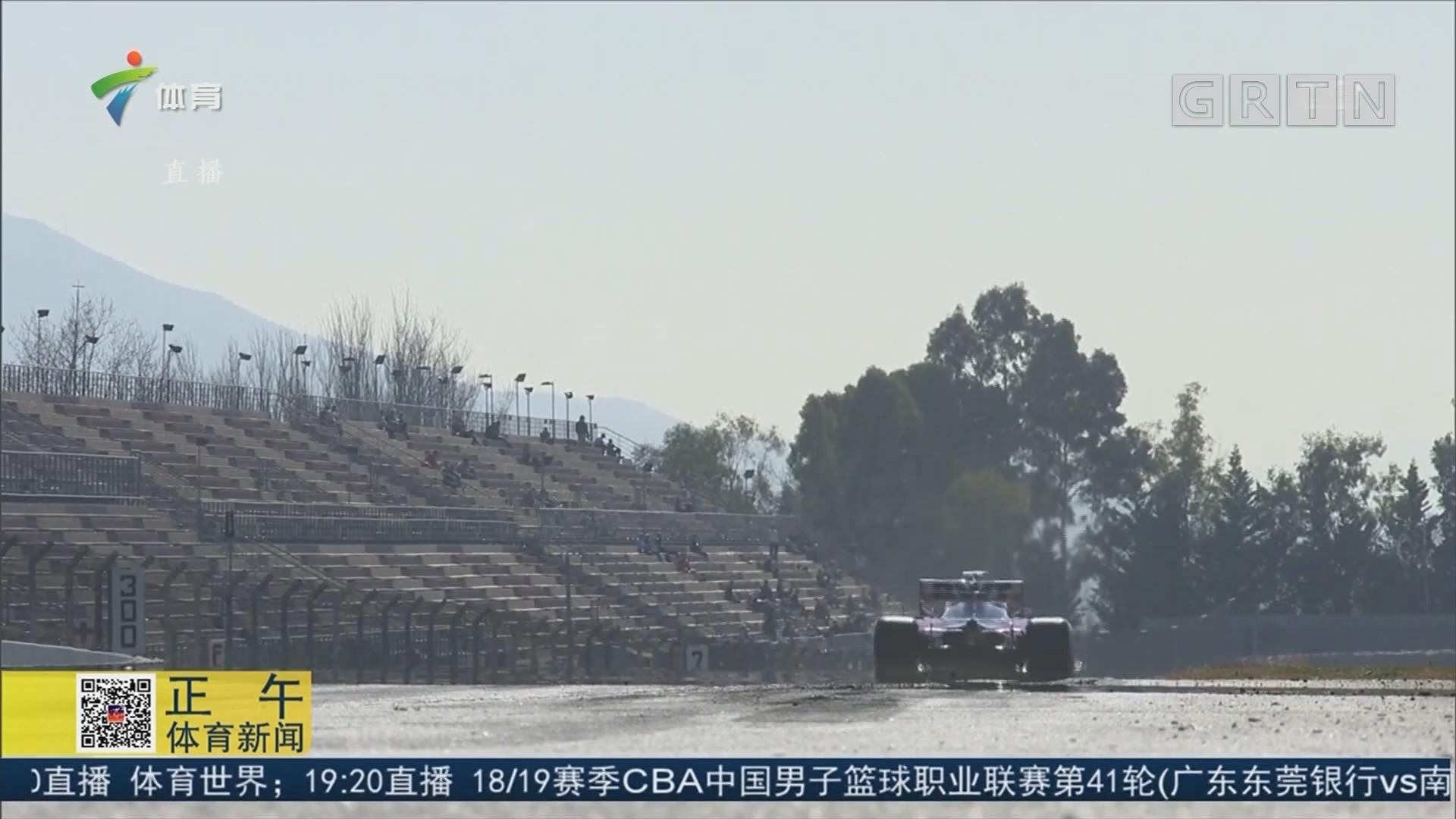 F1巴塞罗那试车 赛恩斯领跑 维特尔撞车