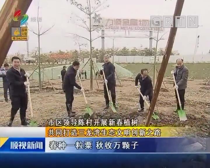 市区领导陈村开展新春植树 共同打造三龙湾生态文明创新之路