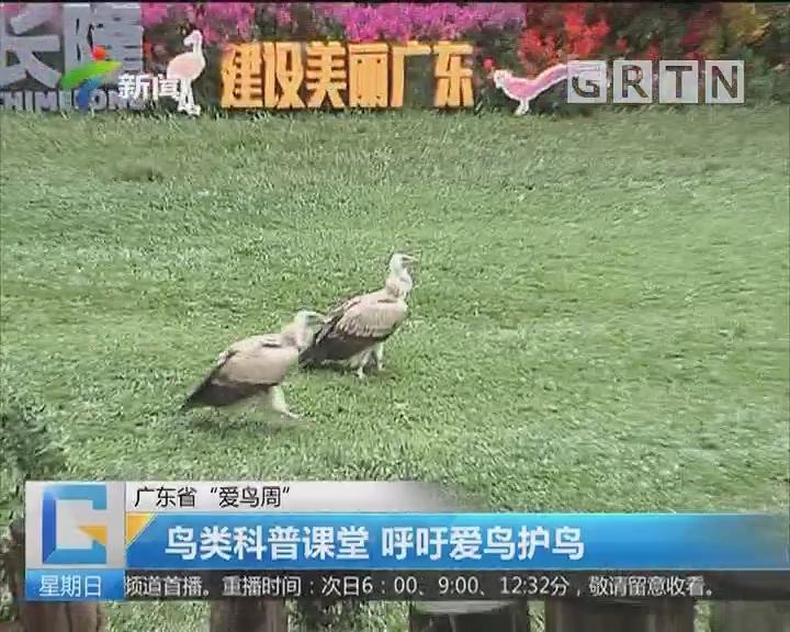 """广东省""""爱鸟周"""":鸟类科普课堂 呼吁爱鸟护鸟"""