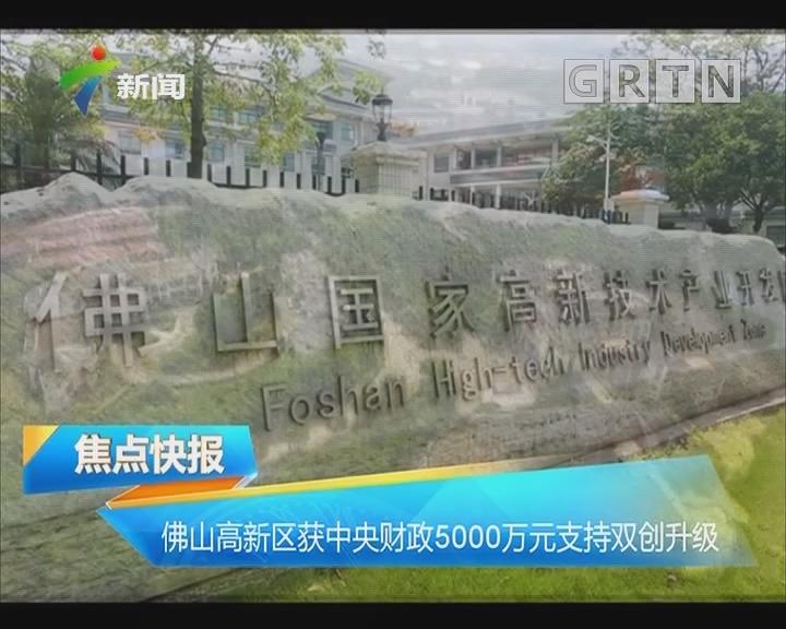 佛山高新区获中央财政5000万元支持双创升级