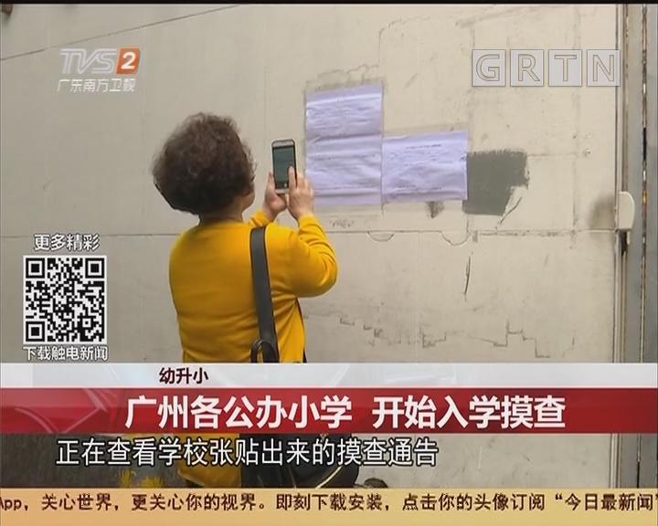 幼升小:广州各公办小学 开始入学摸查
