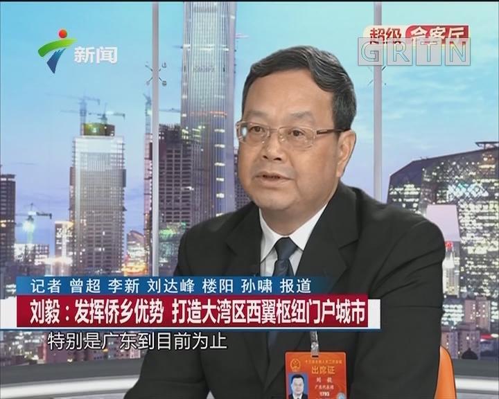 刘毅:发挥侨乡优势 打造大湾区西翼枢纽门户城市