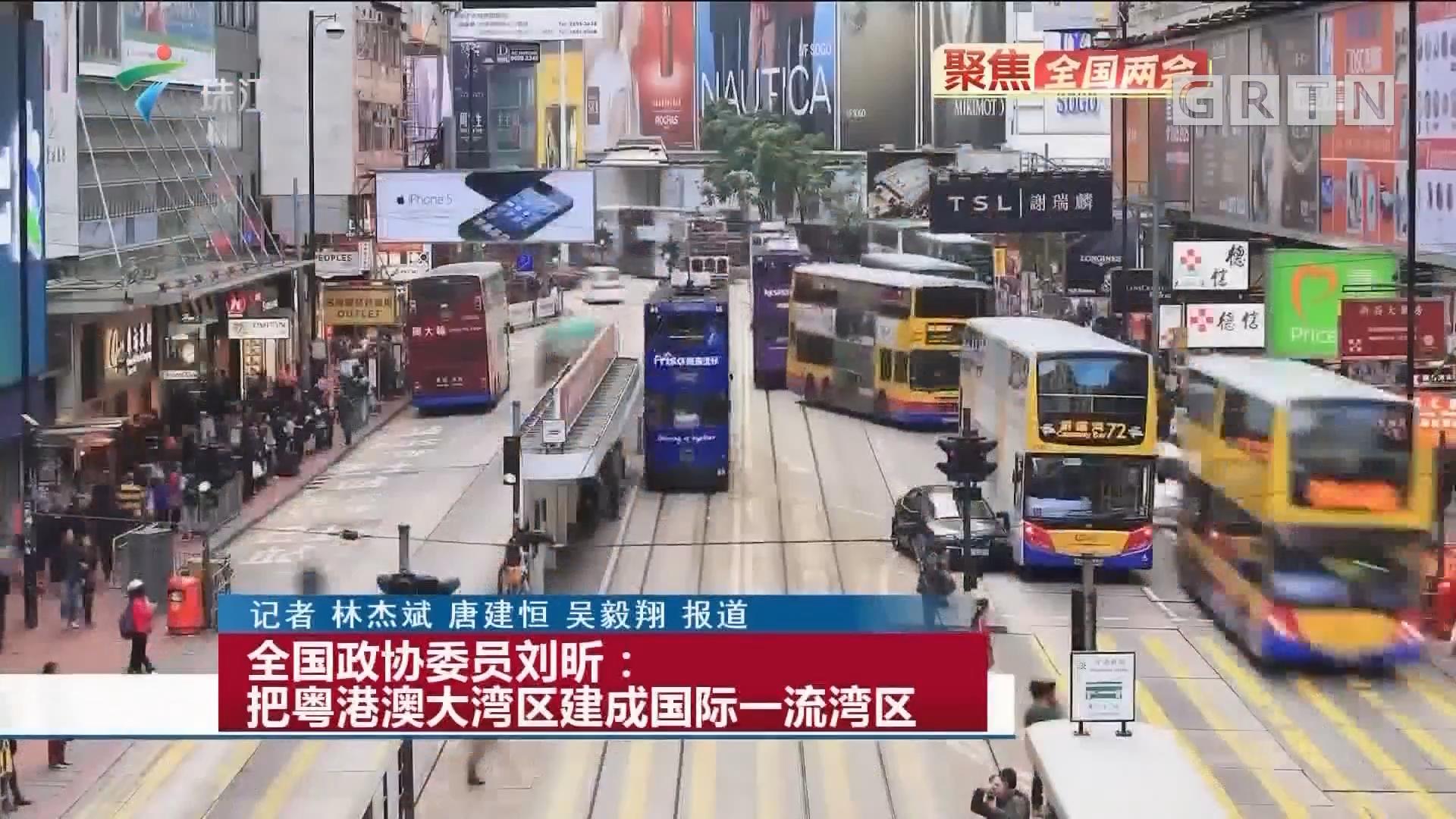 全国政协委员刘昕:把粤港澳大湾区建成国际一流湾区