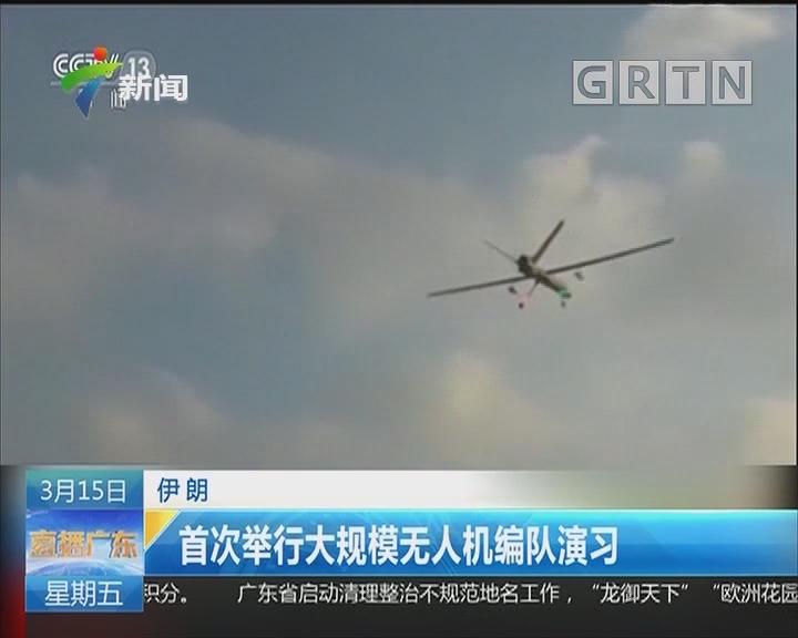 伊朗:首次举行大规模无人机编队演习
