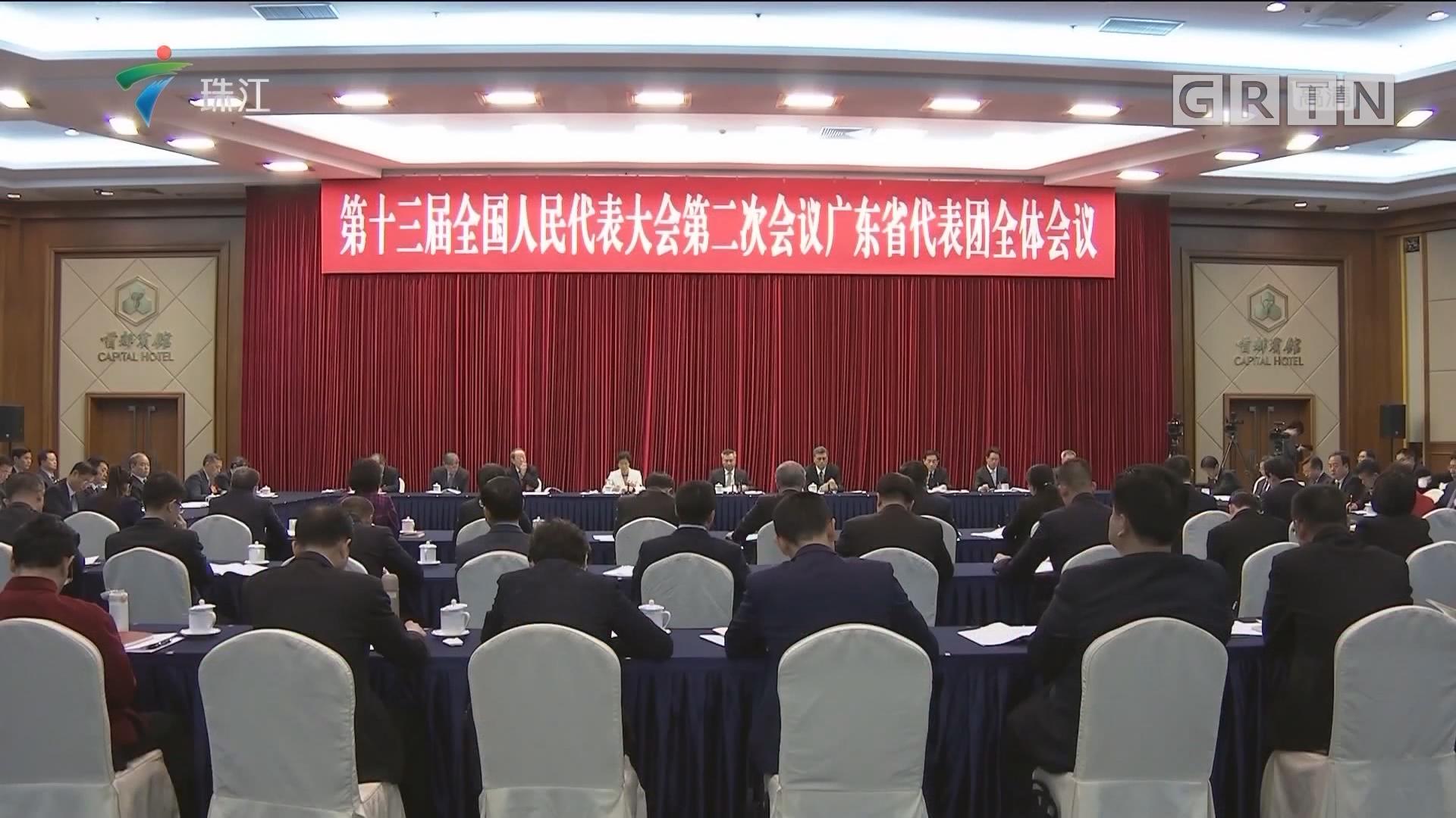 广东代表团召开全体会议 审议全国人大常委会工作报告